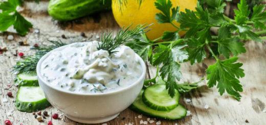 Соус из простокваши и запечённых овощей