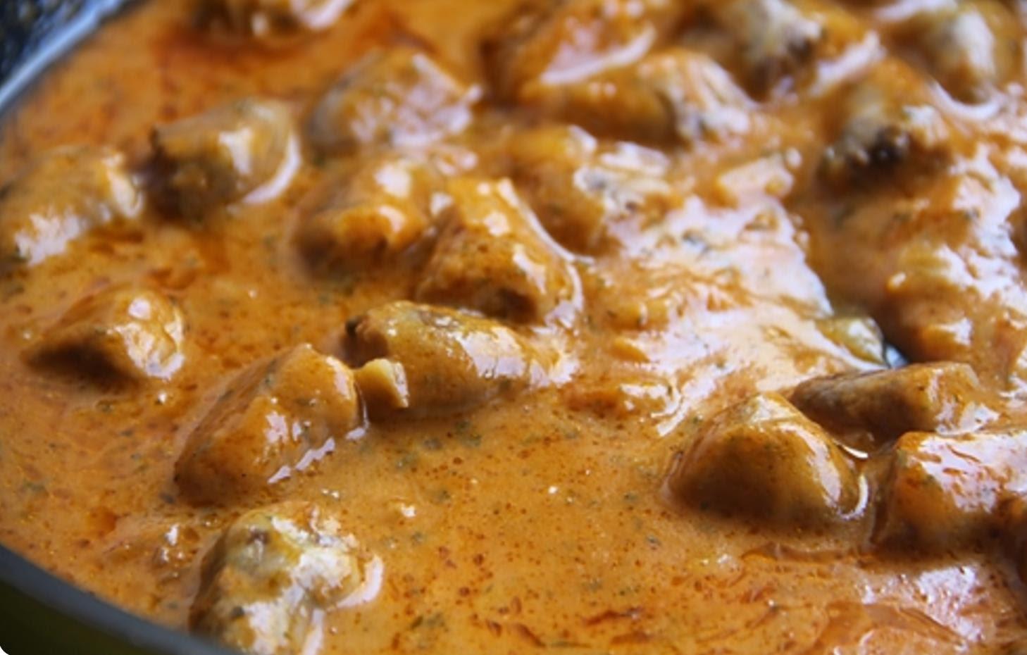 Ингредиенты для приготовления вкусной подливы из куриных сердечек