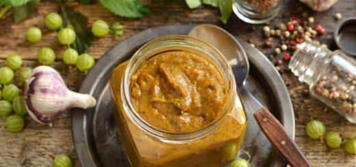 Как приготовить вкусный соус ткемали из крыжовника